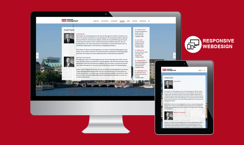 Wordpress Responsive Webdesign
